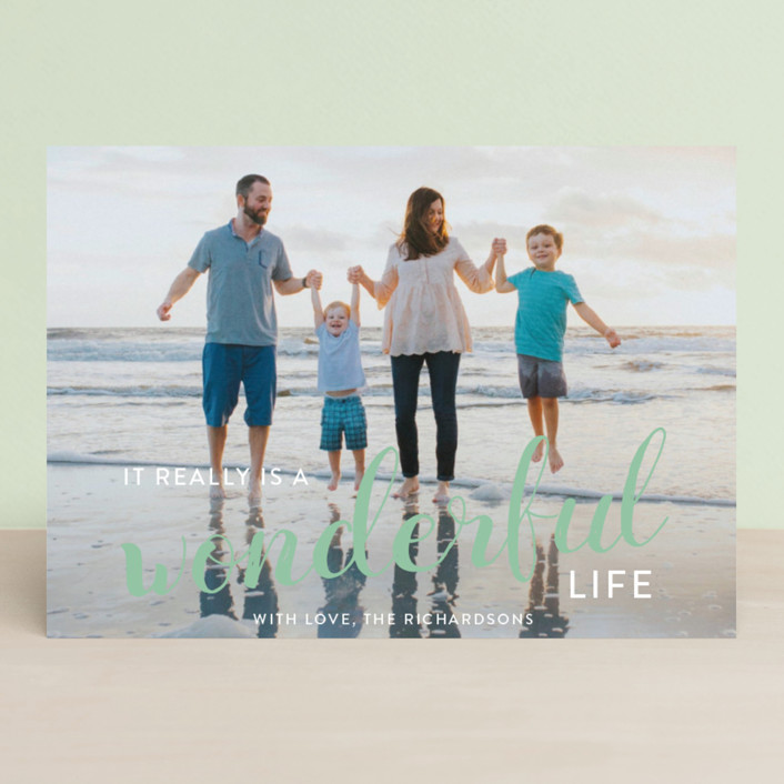 """""""It really is a wonderful life"""" - Holiday Photo Cards in Cardinal by Leah Ragain."""