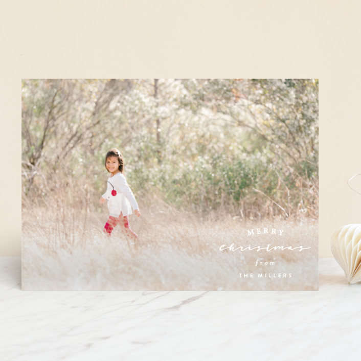 """""""Stamp"""" - Holiday Photo Cards in Snow by Owl and Toad."""