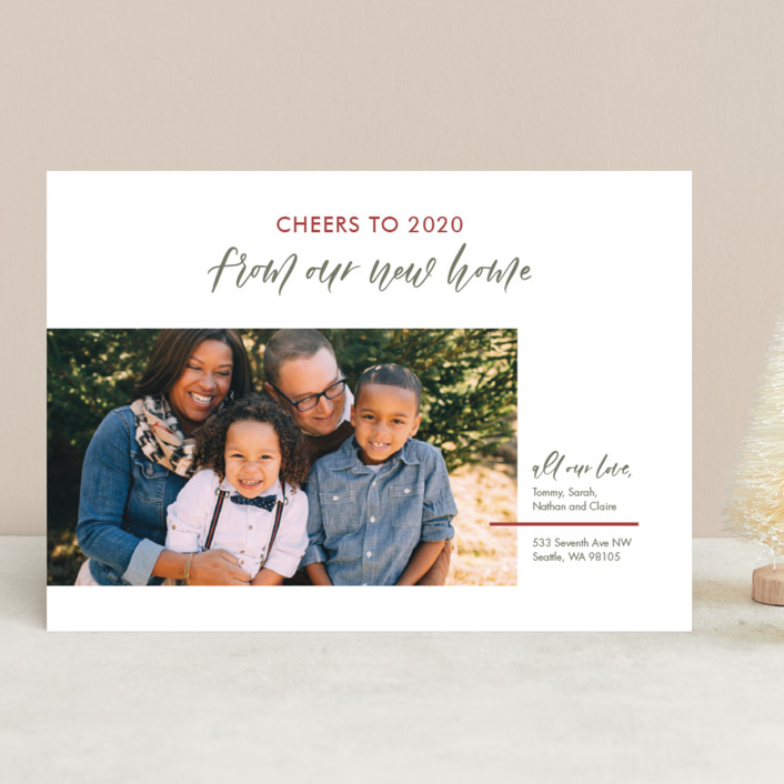 """""""Our New Home"""" - Holiday Photo Cards in Festive by Carolyn Kach."""