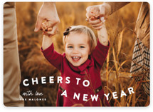 This is a white holiday photo card by Sara Hicks Malone called happy trails with standard printing on smooth signature in standard.