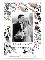 This is a grey holiday photo card by Eve Schultz called Wonderland with standard printing on smooth signature in standard.
