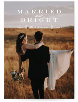 This is a white holiday photo card by Anastasia Makarova called elegant and married with standard printing on smooth signature in standard.