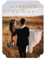 This is a brown holiday photo card by Anastasia Makarova called elegant and married with standard printing on smooth signature in standard.