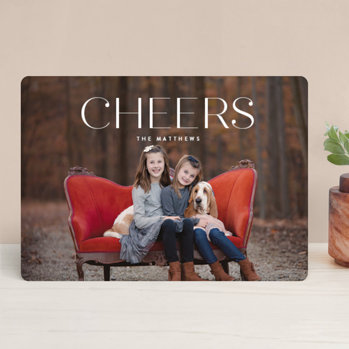 """Chardonnay"" - Holiday Photo Cards in Snow by chocomocacino."