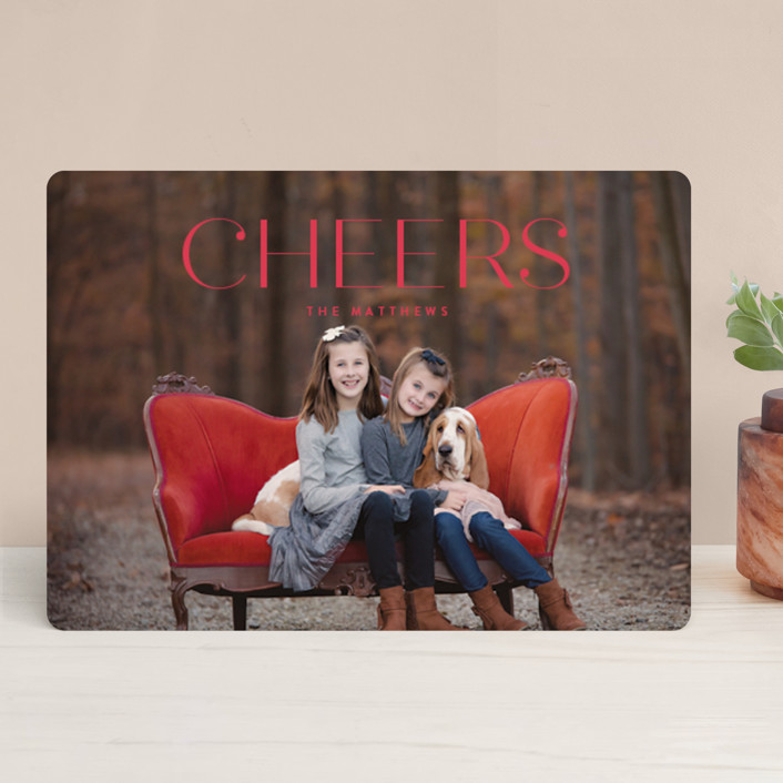 """Chardonnay"" - Holiday Photo Cards in Crimson by chocomocacino."