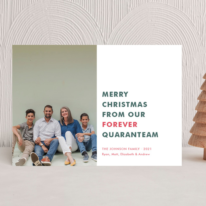"""""""The Quaranteam"""" - Funny Holiday Photo Cards in Stocking by Toast & Laurel."""