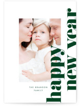 This is a green holiday photo card by Baumbirdy called Bold Holiday with standard printing on smooth signature in standard.