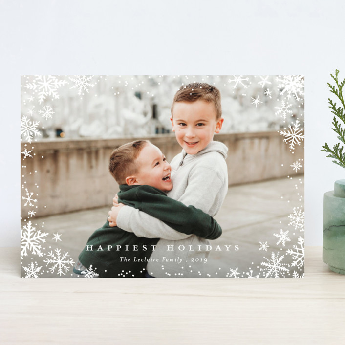"""""""Wonderland"""" - Holiday Photo Cards in Frosting by Design Lotus."""