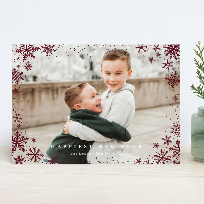 """Wonderland"" - Holiday Photo Cards in Frosting by Design Lotus."