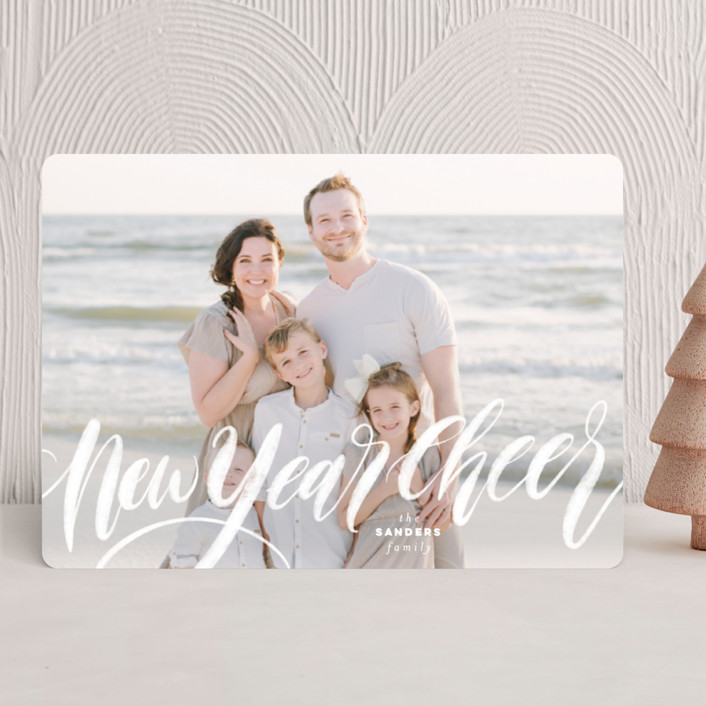 """""""All is Bright"""" - Holiday Photo Cards in Frost by Pink House Press."""
