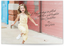 This is a black holiday photo card by Design Lotus called personal note with standard printing on smooth signature in standard.