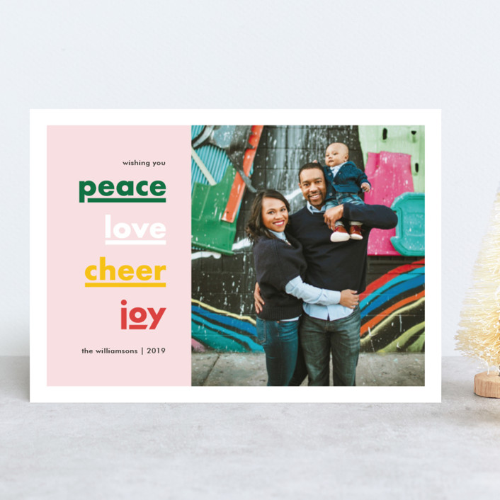 """Holiday Well Wishes"" - Holiday Photo Cards in Gumdrop by Alyssa Graves."
