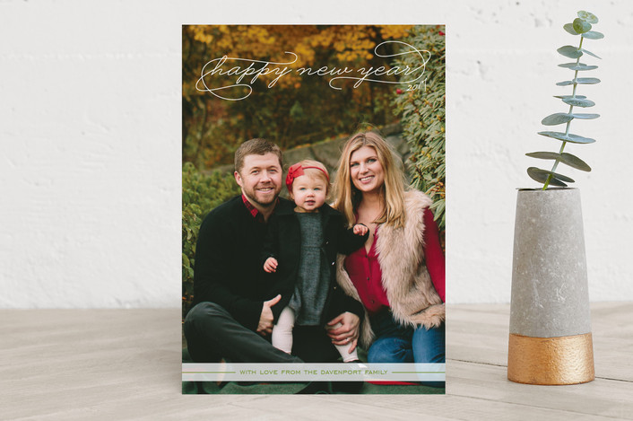 """""""Gallery Classic"""" - Full-Bleed Photo, Modern Holiday Photo Cards in Snow by Sydney Newsom."""