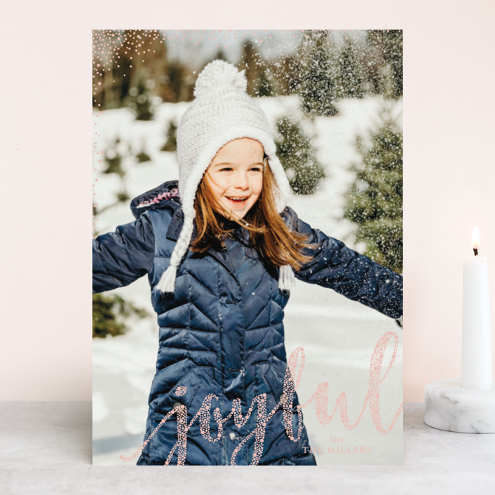"""""""Joyful Greeting"""" - Holiday Photo Cards in Ballet Slippers by Erin Deegan."""