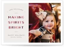 This is a red holiday photo card by Pixel and Hank called Making Bright with standard printing on smooth signature in standard.