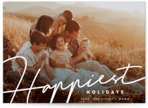 This is a white holiday photo card by Summer Winkelman called happiest written with standard printing on recycled smooth signature in standard.