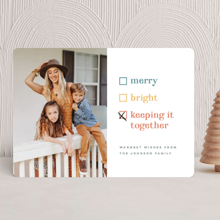 """""""Keeping it together"""" - Funny Holiday Photo Cards in Cornucopia by Pink House Press."""