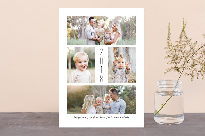 """Simply Joy"" - Holiday Photo Cards in Onyx by Amy Payne."