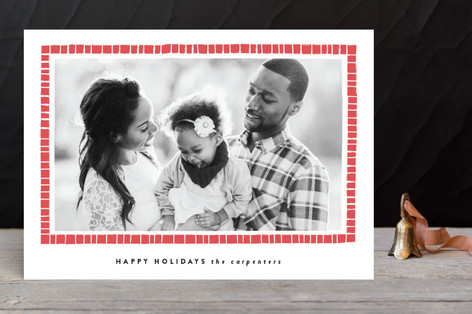 Criss Cross Holiday Photo Cards