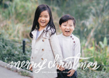 Hand Lettered Merry Holiday Photo Cards By Kristen Smith