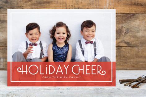 Cheerful Greeting Holiday Photo Cards