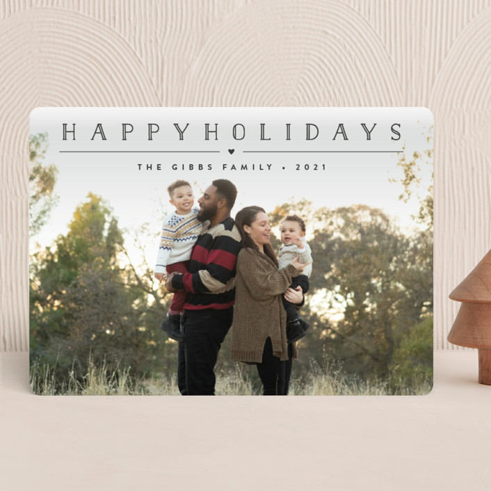 """Height of Happiness"" - Holiday Photo Cards in Golden by Carolyn MacLaren."