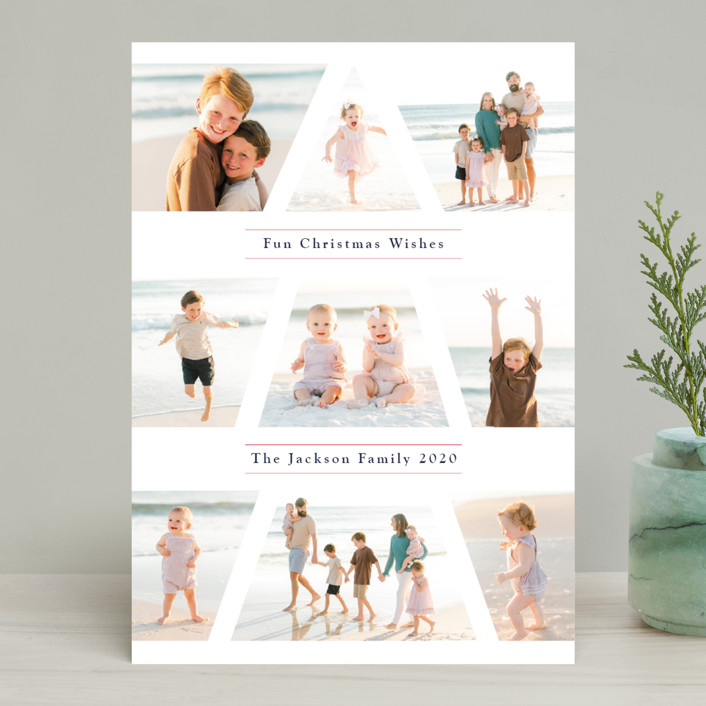 """""""Family Christmas Tree"""" - Holiday Photo Cards in Snow by Playground Prints."""