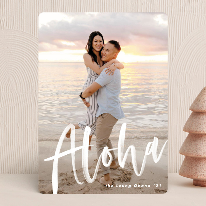 """""""Aloha"""" - Holiday Photo Cards in Frost by Pine Street Creative."""