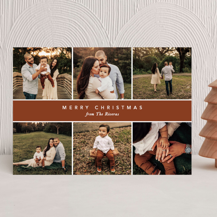"""""""Christmas Montage"""" - Holiday Photo Cards in Harvest by Vanessa Doyle."""
