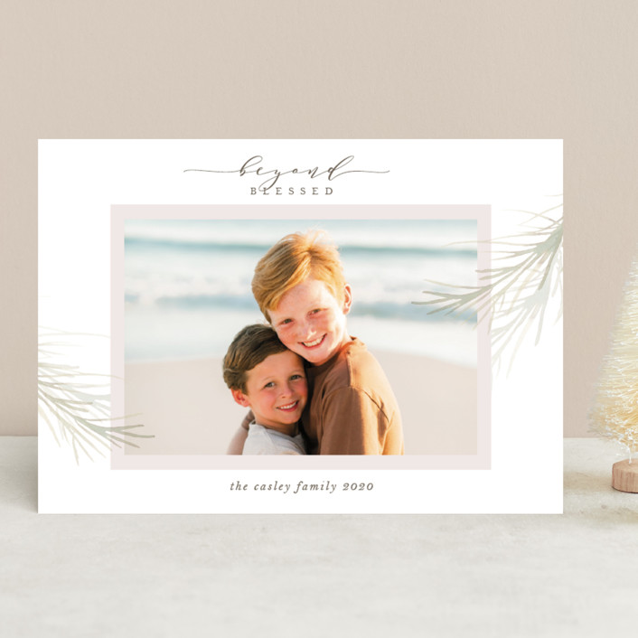 """""""holiday wisp"""" - Holiday Photo Cards in Wisp by Melinda Denison."""