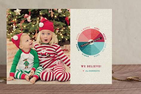 Belief-O-Meter Holiday Photo Cards