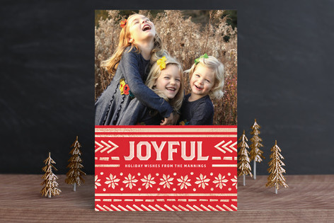 Festive Pattern Holiday Photo Cards