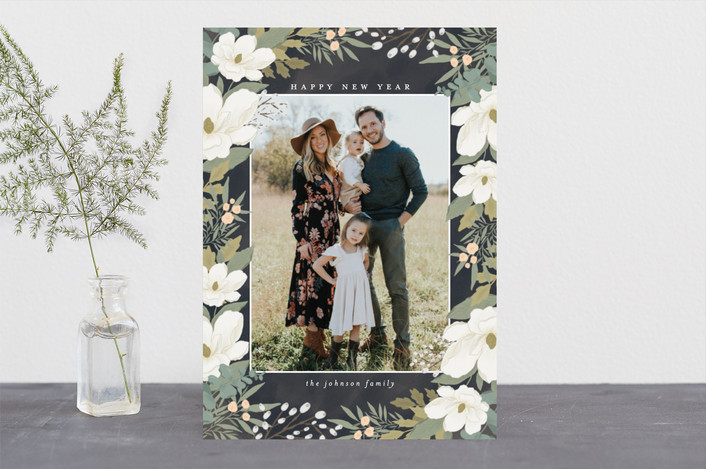 """Garden Frame"" - Holiday Photo Cards in Nightfall by Grace Kreinbrink."