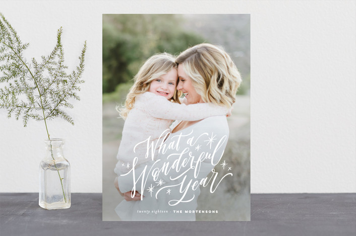 """A Most Wonderful Life"" - Holiday Photo Cards in Snowflake by Wildfield Paper Co.."