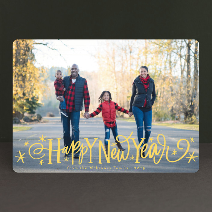 """Whimsical Script"" - Holiday Photo Cards in Starlight by Alethea and Ruth."