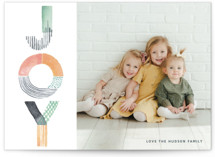 Color Block Joy Holiday Photo Cards By Kelsey McNatt