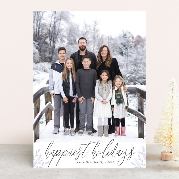 """""""Snowy land"""" - Holiday Photo Cards in Lilac by Kann Orasie."""