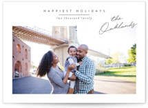 This is a white holiday photo card by Jessica Williams called Noted with standard printing on smooth signature in standard.