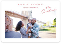 This is a red holiday photo card by Jessica Williams called Noted with standard printing on smooth signature in standard.