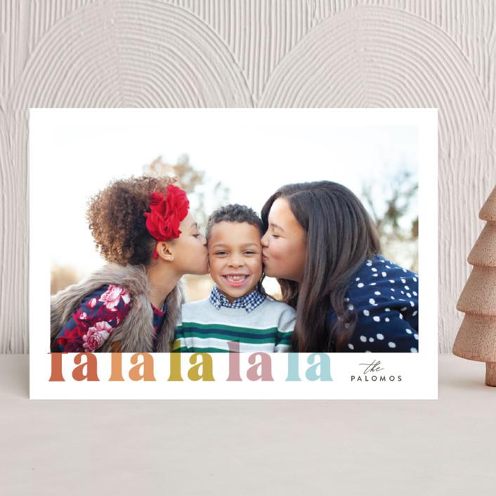 """""""Falalala"""" - Holiday Photo Cards in Cheer by Carolyn Nicks."""