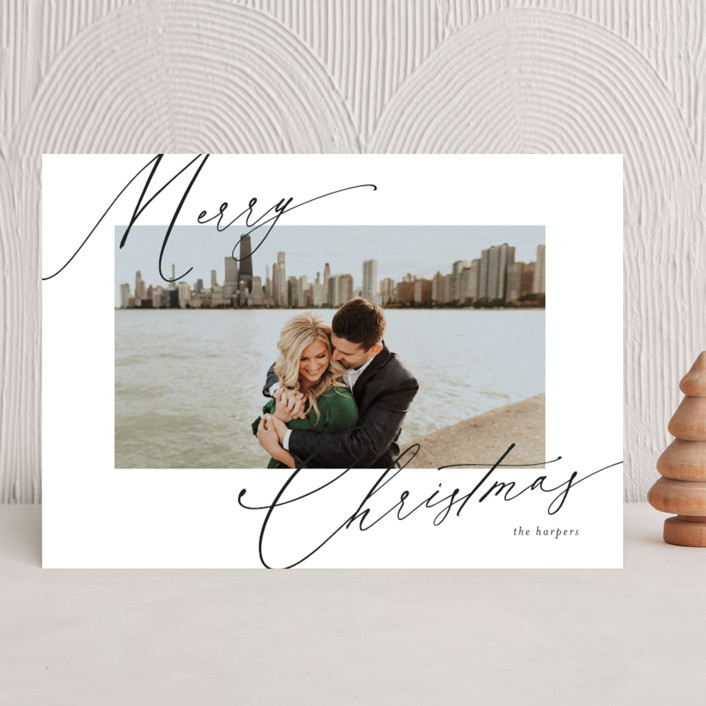 """scripted greeting"" - Holiday Photo Cards in Ink by Kasia Labocki."
