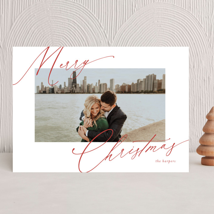 """""""scripted greeting"""" - Holiday Photo Cards in Holly by Kasia Labocki."""