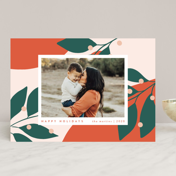 """Bold and Bright"" - Modern Holiday Photo Cards in Mandarin by Kelly Schmidt."