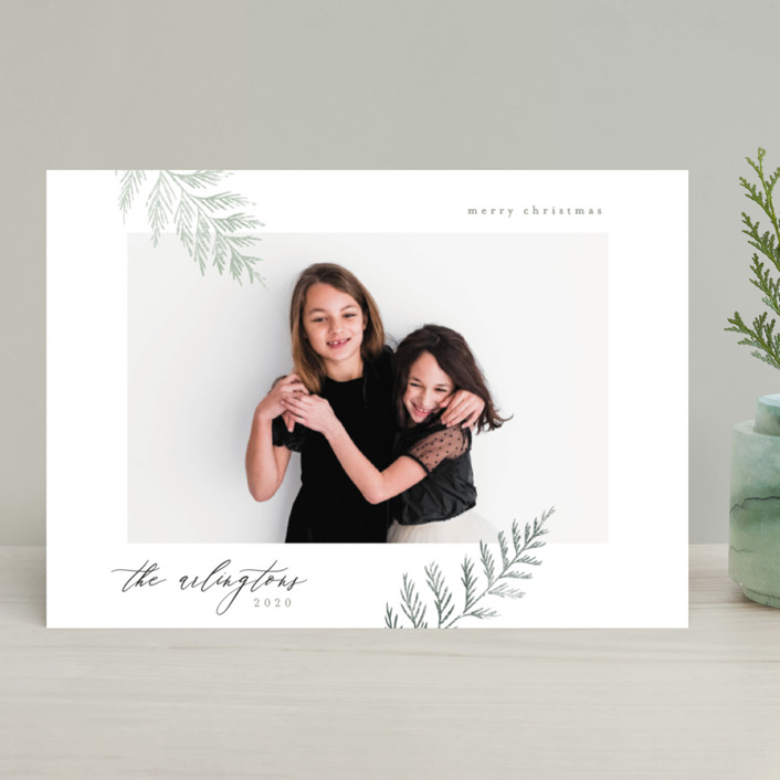 """""""Minimal Elegance"""" - Holiday Photo Cards in Snow by Kelly Schmidt."""