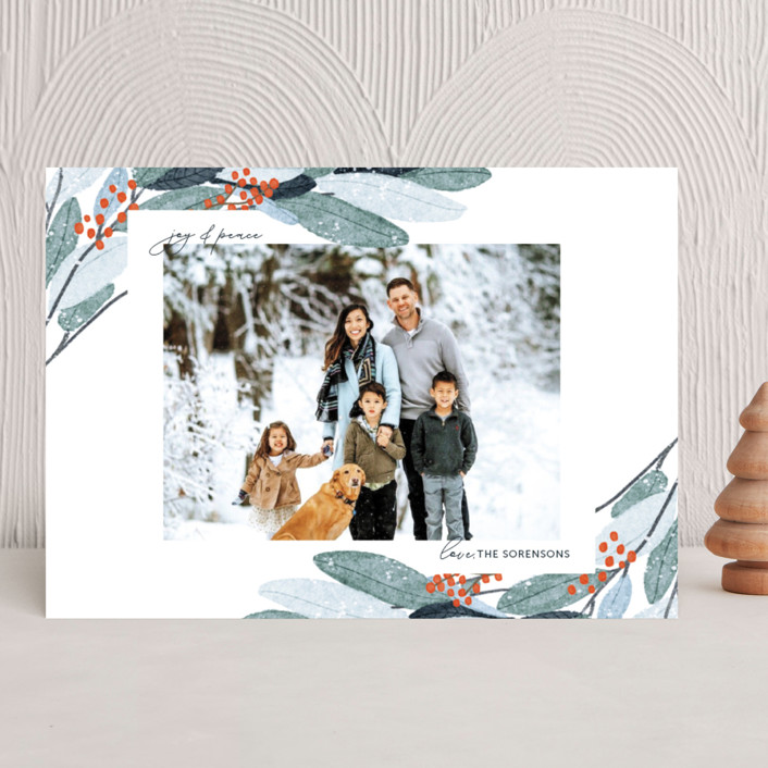 """""""Wintery Eucalyptus"""" - Holiday Photo Cards in Snow by Angel Walker."""