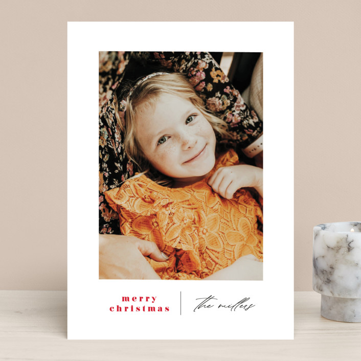 """Modern Days"" - Holiday Photo Cards in Maple Leaf by Ana Sharpe."