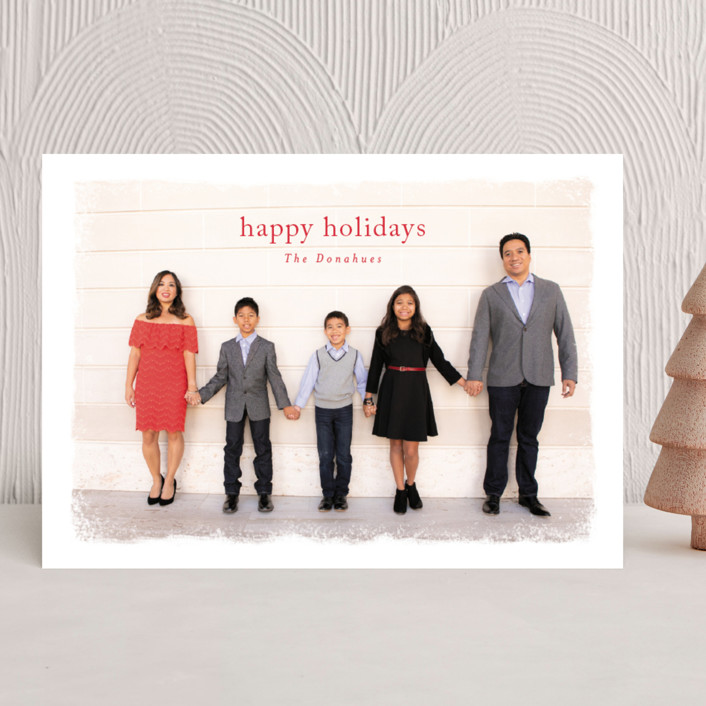 """""""pavlova"""" - Vintage Holiday Photo Cards in Berry by chocomocacino."""