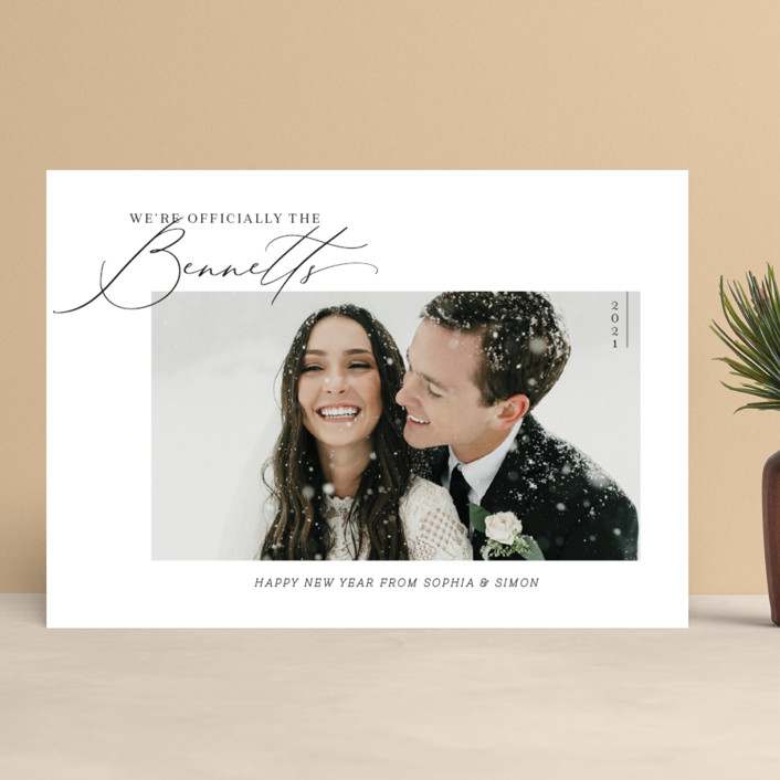 """""""Officially Official"""" - Holiday Photo Cards in Tuxedo by Carolyn Kach."""
