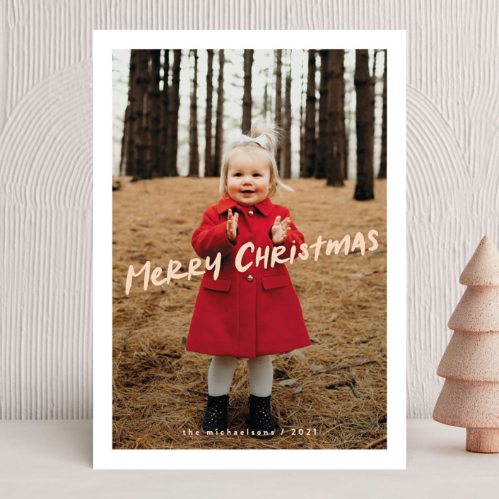 """""""compote"""" - Holiday Photo Cards in Winter Rose by chocomocacino."""