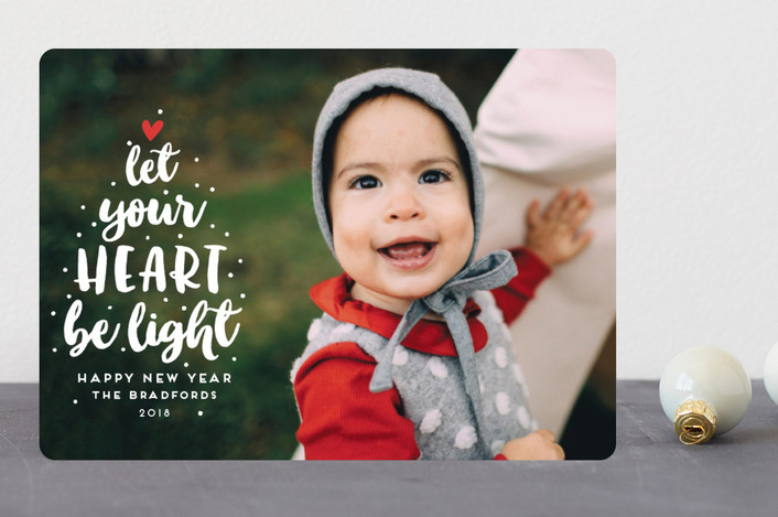 """""""Light-Hearted Christmas"""" - Holiday Photo Cards in Snow by Shirley Lin Schneider."""